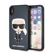 Калъф Original Faceplate Case Karl Lagerfeld KLHCPXIKPUBL iPhone X Blue