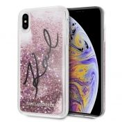 Калъф Original Faceplate Case Karl Lagerfeld KLHCI65TRKSIGPI iPhone XS Max Liquid Pink