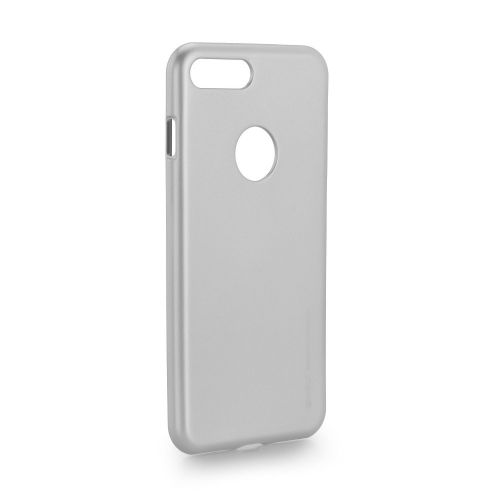 Калъф i-Jelly Case Mercury iPhone 7 Plus / 8 Plus silver with logo window