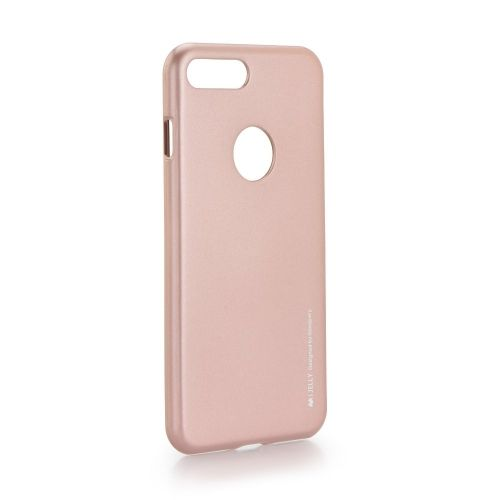 Калъф i-Jelly Case Mercury iPhone 7 Plus / 8 Plus gold with rose logo window