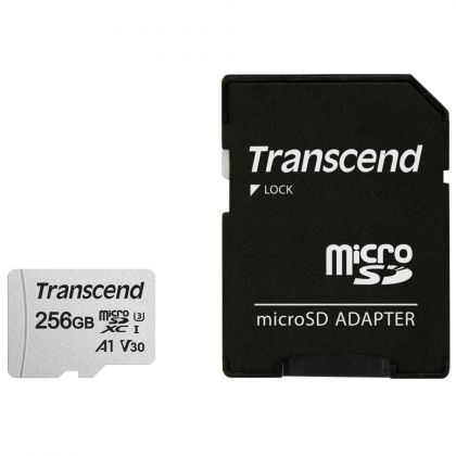 Карта памет Transcend UHS-I microSD 300S 256GB With Adapter