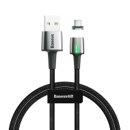 Кабел Baseus Zinc Magnetic USB-C Cable 2m Black