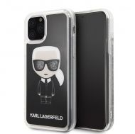 Калъф Original Faceplate Case Karl Lagerfeld KLHCN58ICGBK iPhone 11 Pro Glitter Black