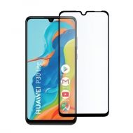 3D Стъклен Протектор Huawei P30 Lite Tempered Glass Full Glue Black