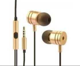 Слушалки HF Stereo gold box metal MI