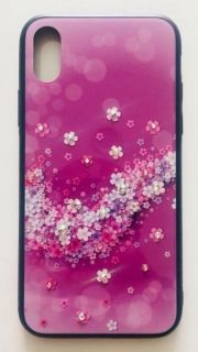 Калъф Glass case Samsung S9 Plus цветя