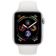 Apple Watch 4 40mm MTVJ2TY/A Stainless Steel Case White Sport Band