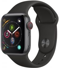 Apple Watch 4 40mm MTVD2TY/A Space Gray Aluminium Case Black Sport Band