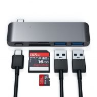 Satechi Type-C USB Passthrough Hub Space Grey