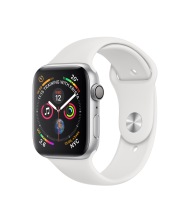 Apple Watch 4 44mm GPS Silver Aluminium White Sport Band