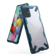 Калъф Ringke Fusion X Design PC Case Samsung A71 Blue
