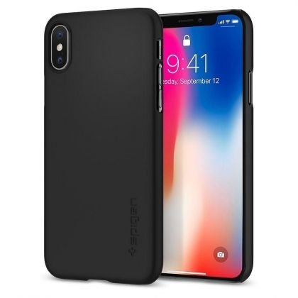 Калъф Spigen Thin Fit iPhone X Black