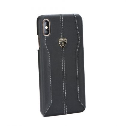 Калъф Original Leather Back Case Lamborghini Huracan LB-HCIPXC-HU/D1 iPhone XR Black
