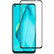 5D Стъклен протектор Huawei P40 Lite Tempered Glass Full Glue Black
