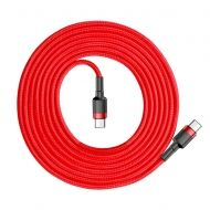 Кабел Baseus Cafule Cable USB-C to USB-C 2m Red