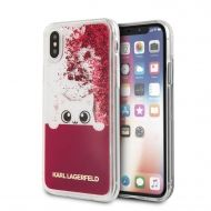 Калъф Original Faceplate Case Karl Lagerfeld KLHCPXPABGFU iPhone X Liquid Pink