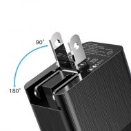 Адаптер Baseus Duke Travel Charger Adapter Exchangeable Plug 3x USB Black