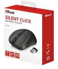 Мишка TRUST Mydo Silent Wireless Mouse Black